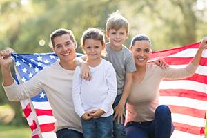 воссоединение с семьей в США, виза для семьи в Америку